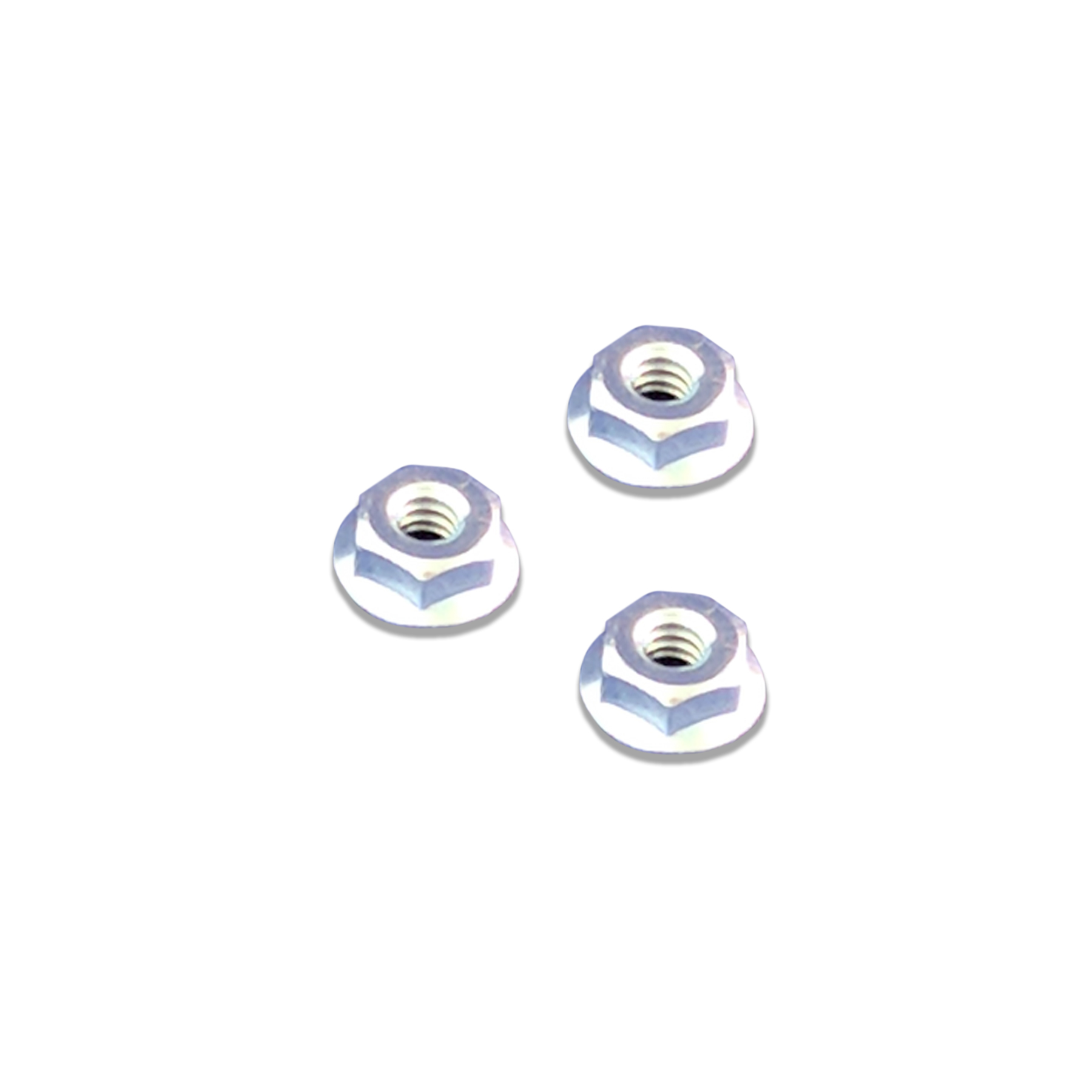 CONS Zinc Plated Flange Nut, #10-24