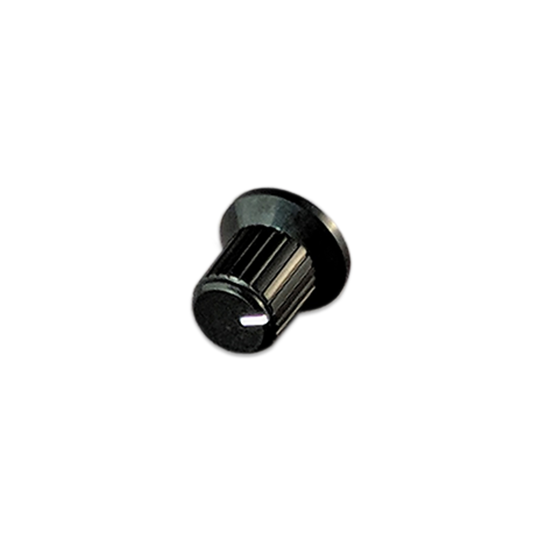 Black Plastic Knob, 1/4 in Shaft, 18 teeth