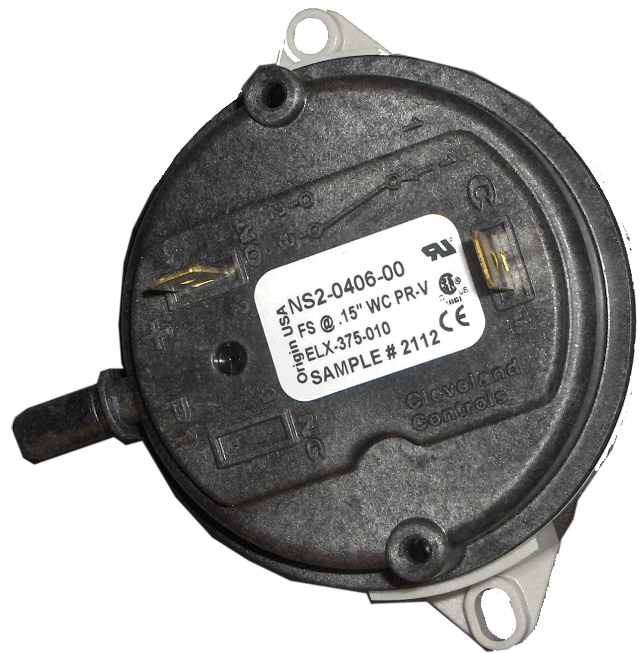 Fan Validation Pressure Switch .15 WC