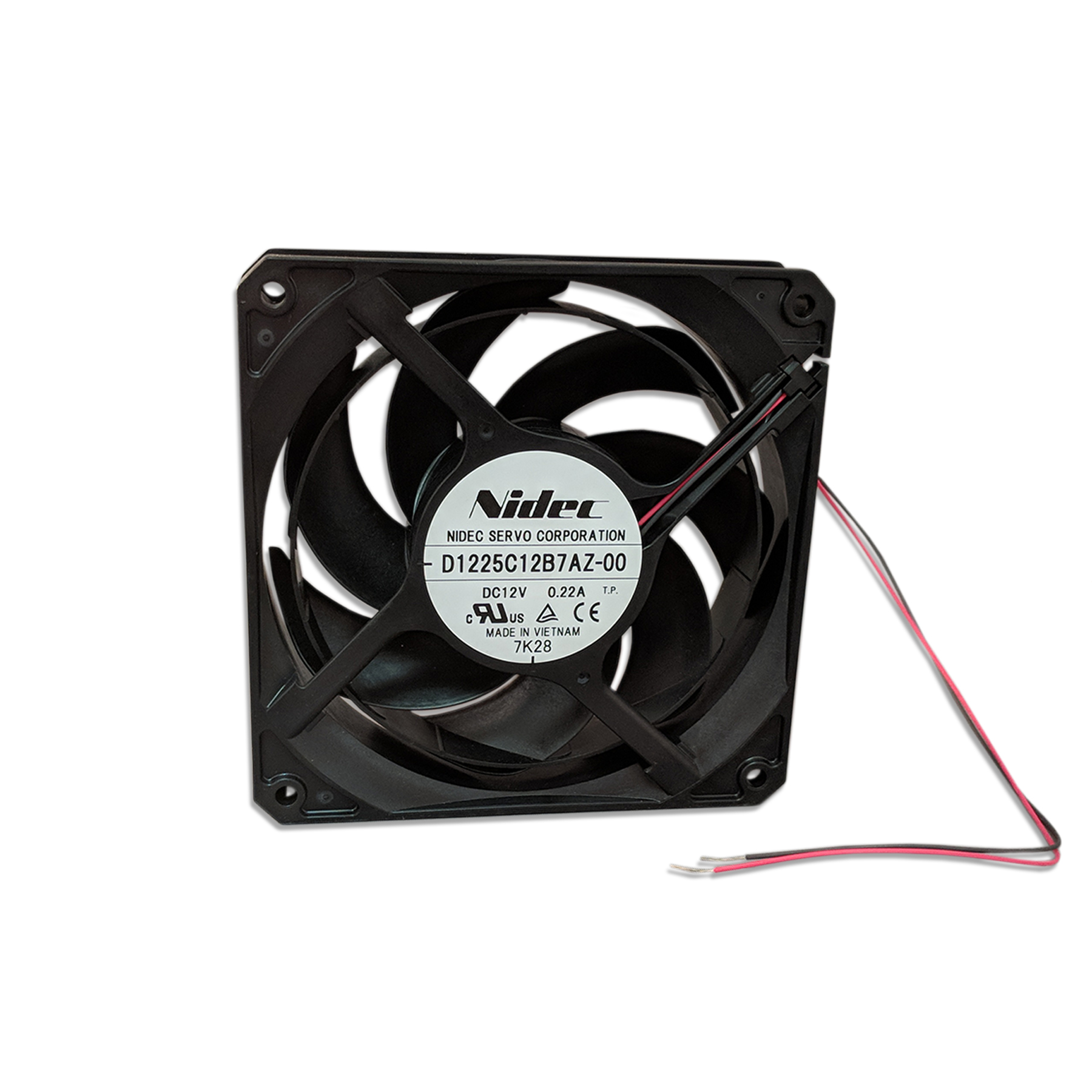 12 VDC Whisper Fan Plastic Housing