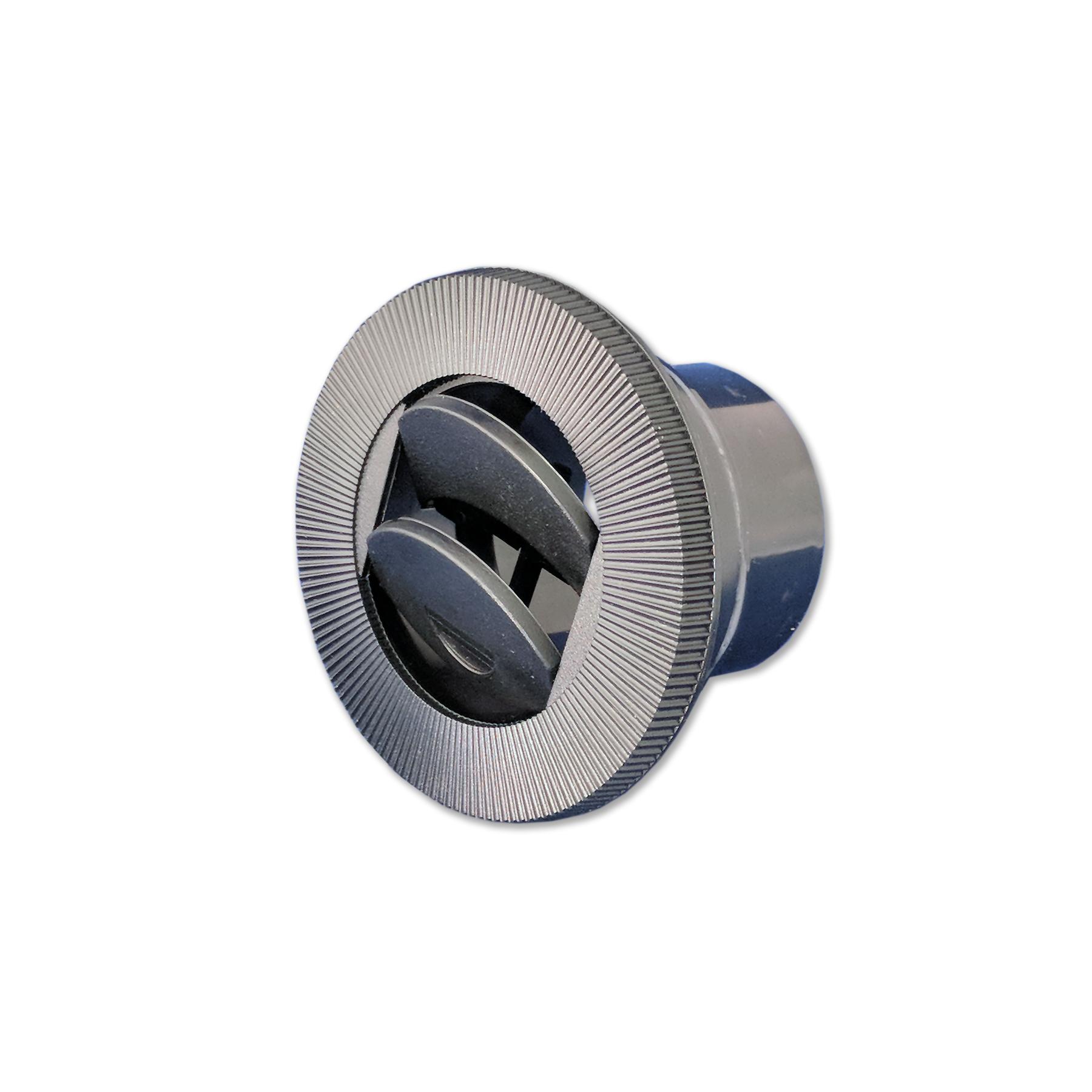 """4"""" Round Nozzle w/o connector, Black"""