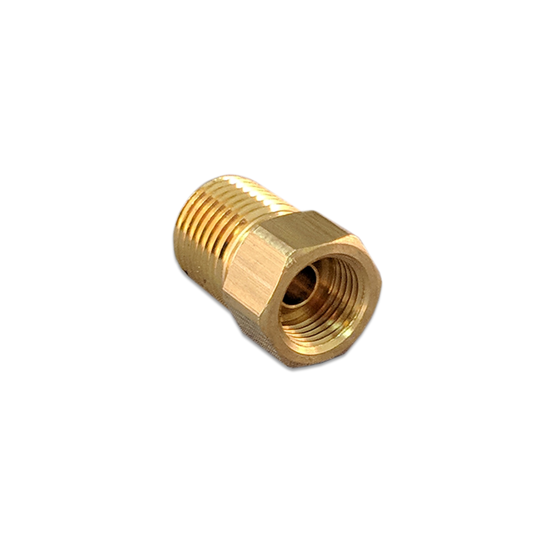 CONS Inverted Flare Connector Fitting, 1/4 Tube x 1/4 (M) NPT