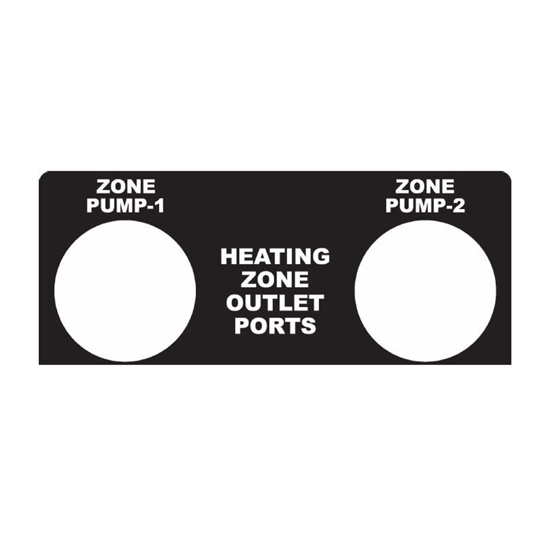 450D Zone Outlet Ports Label