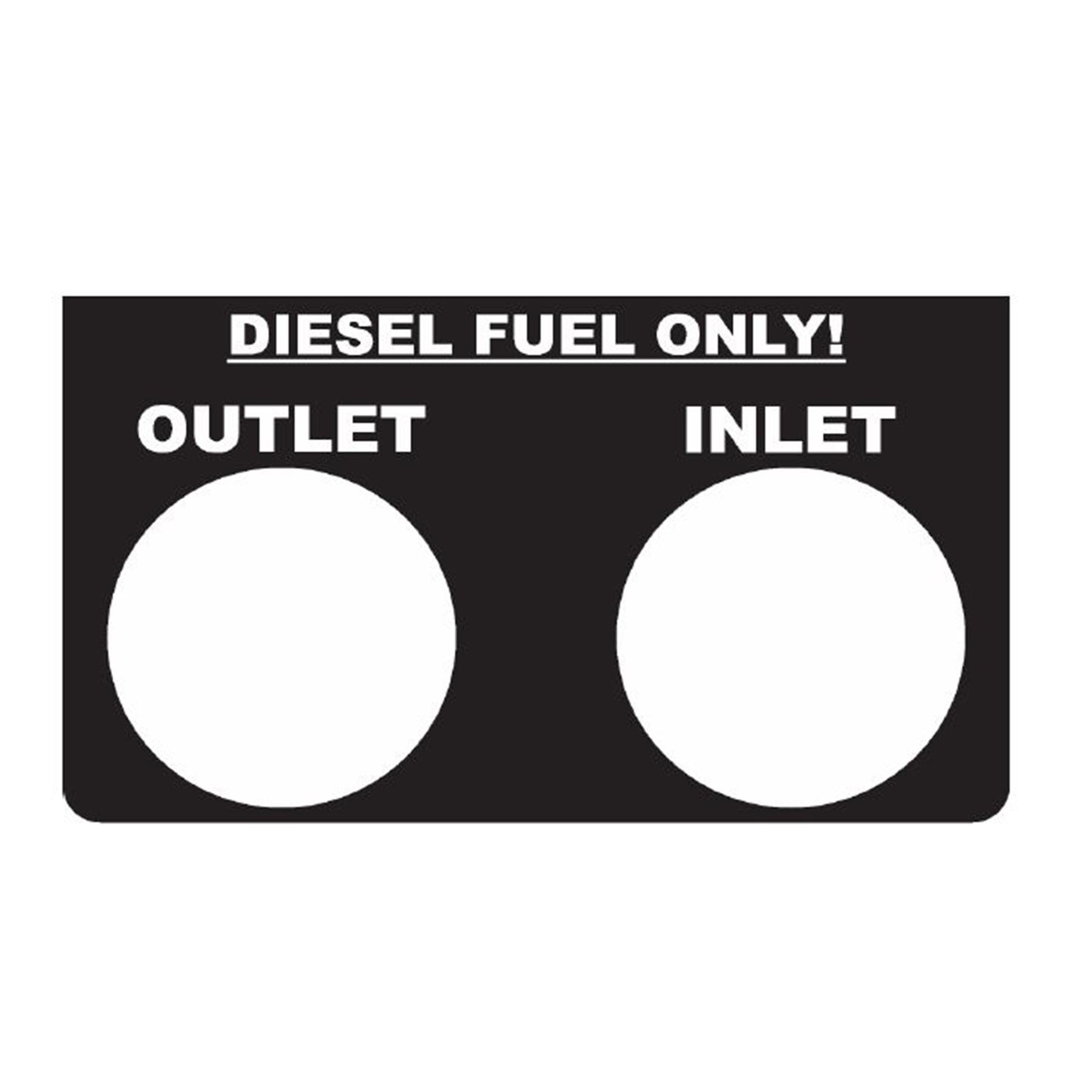 CONS 450D Fuel Ports Decal