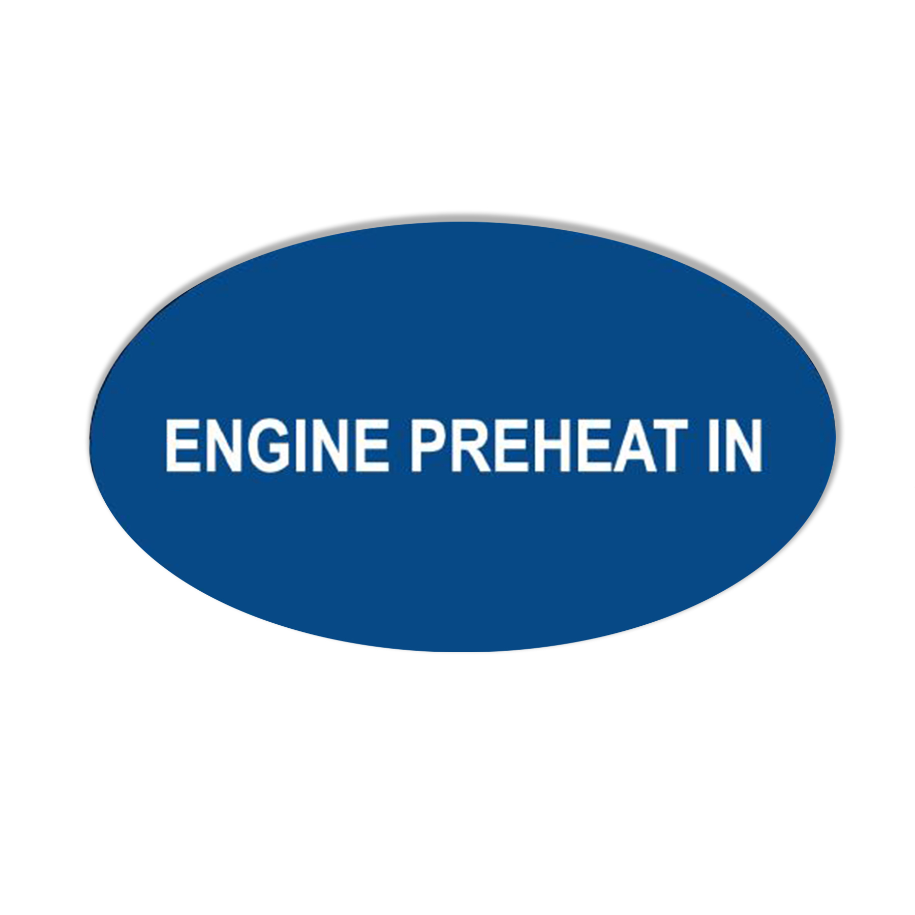 "CONS Engine Preheat ""In"" Label"