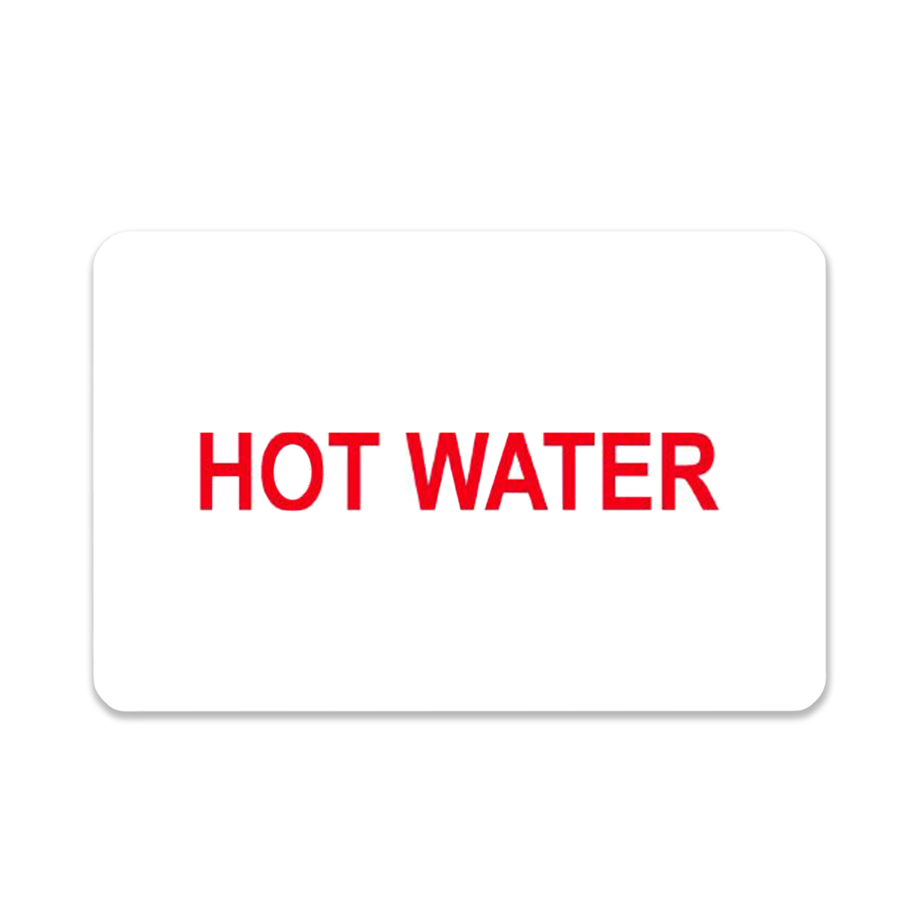"""""""Hot Water"""" Label"""