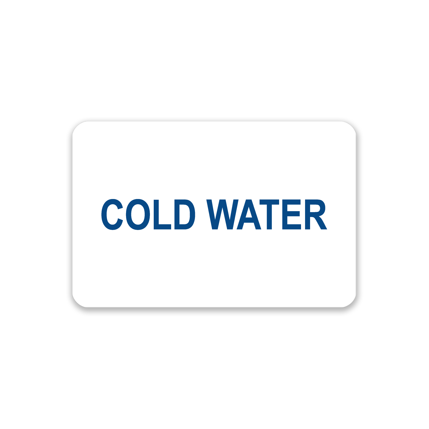 """""""Cold Water"""" Label"""