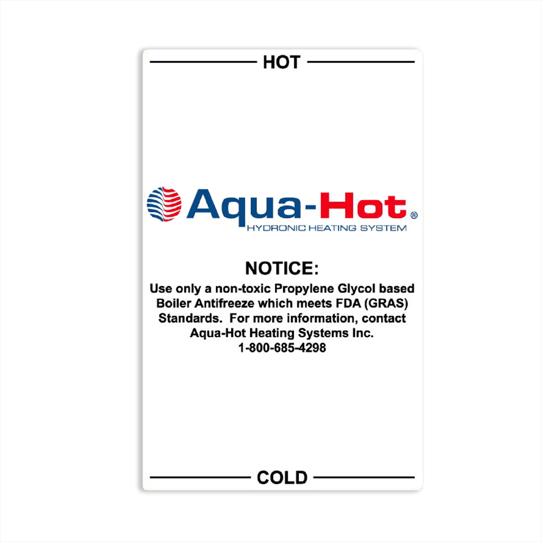 5 Qt. Expansion Tank Label