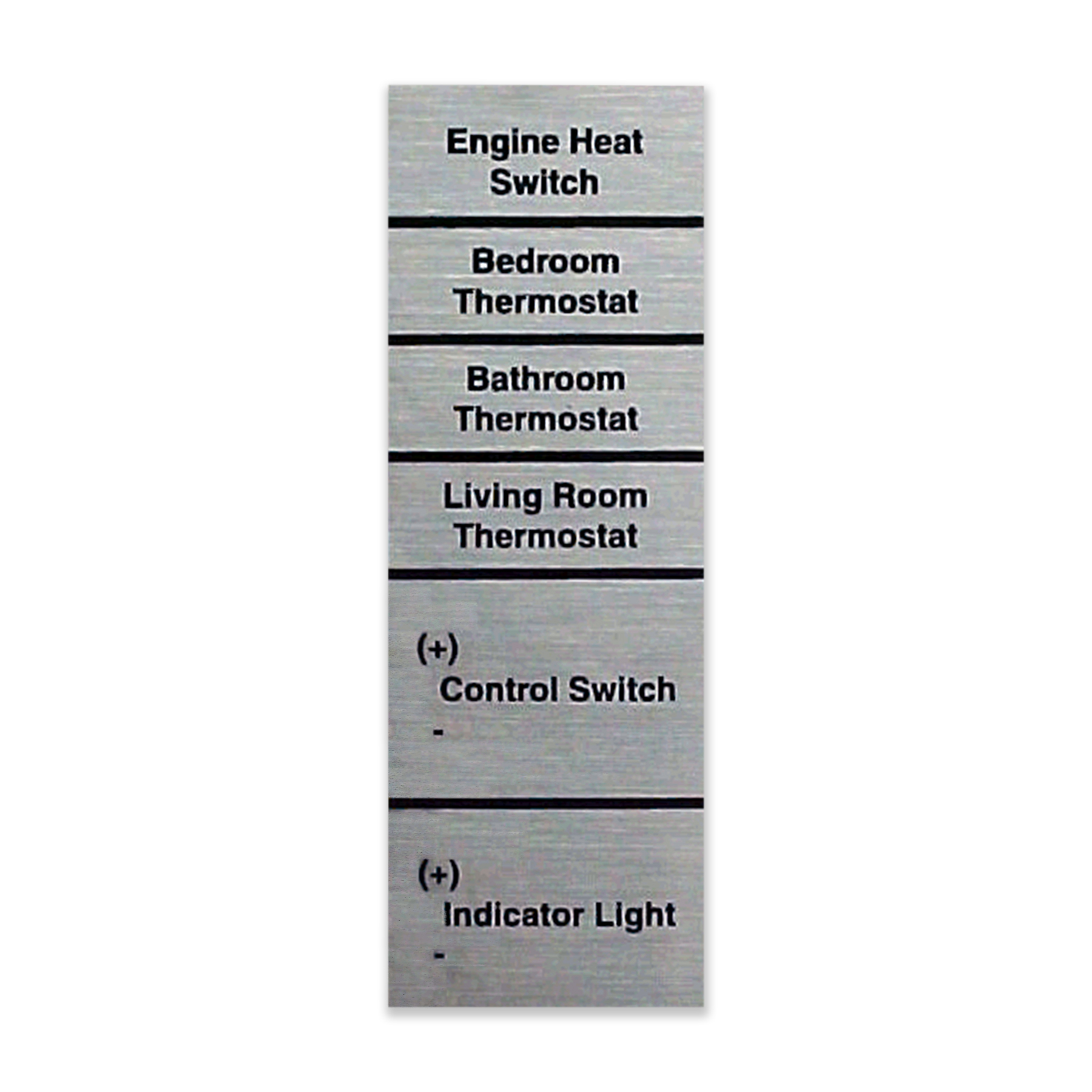 CONS Bulkhead Terminal Label, Aqua-Hot