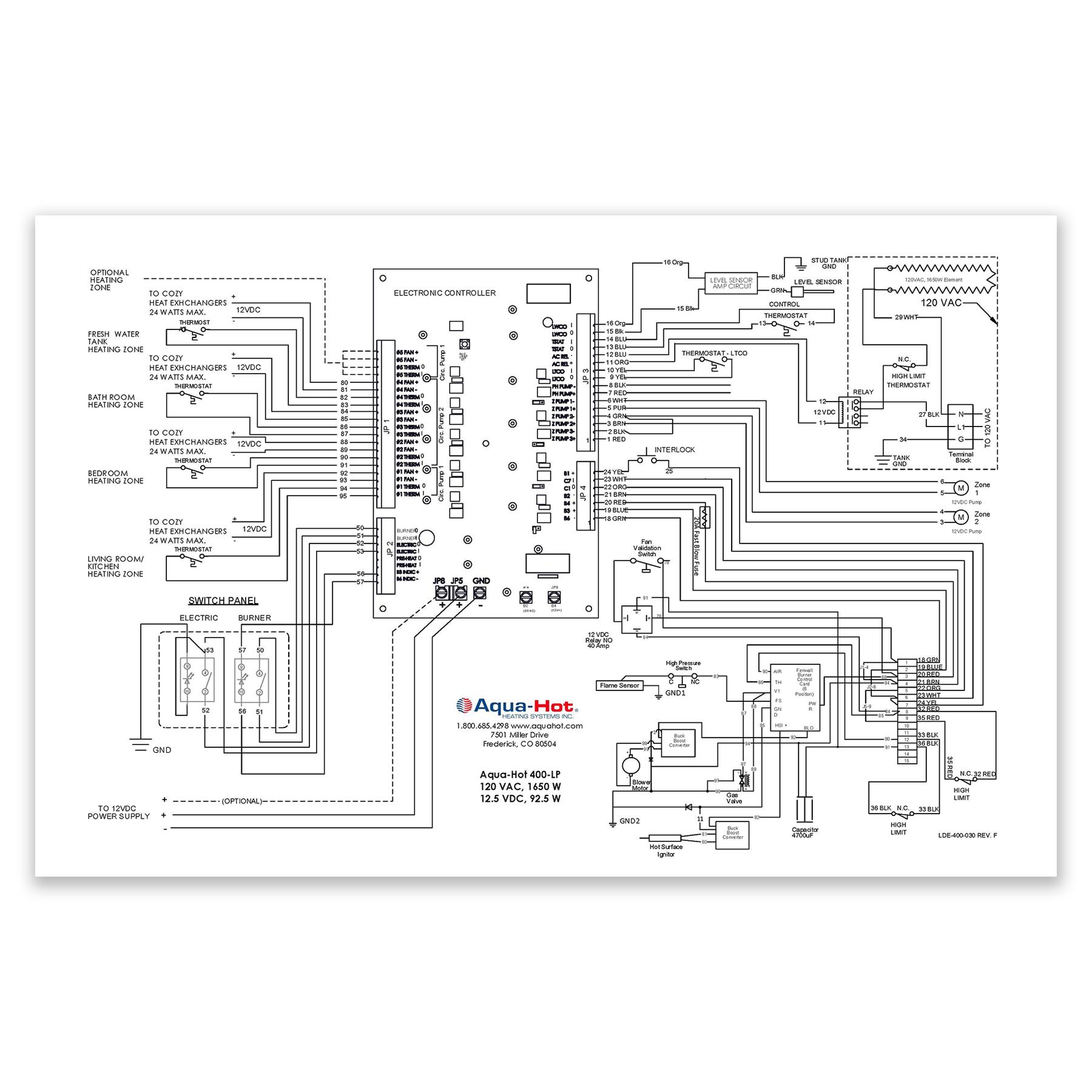 CONS 400P Wiring Diagram Label