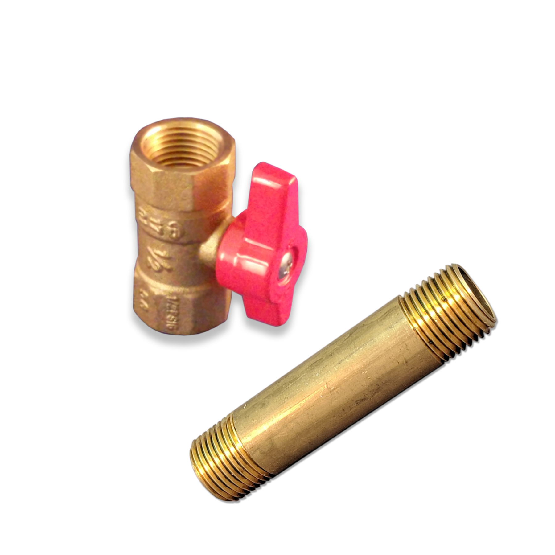 Brass Ball Valve Assembly w/Fitting, 1/2 in. (F)NPT, AHE-03, 04
