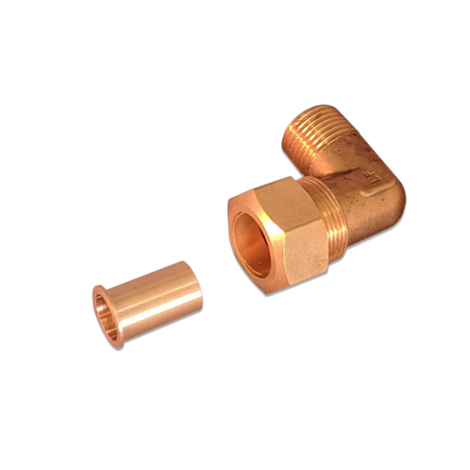 90 Degree Brass Elbow Fitting Kit, 5/8 in. PEX x 1/2 in.