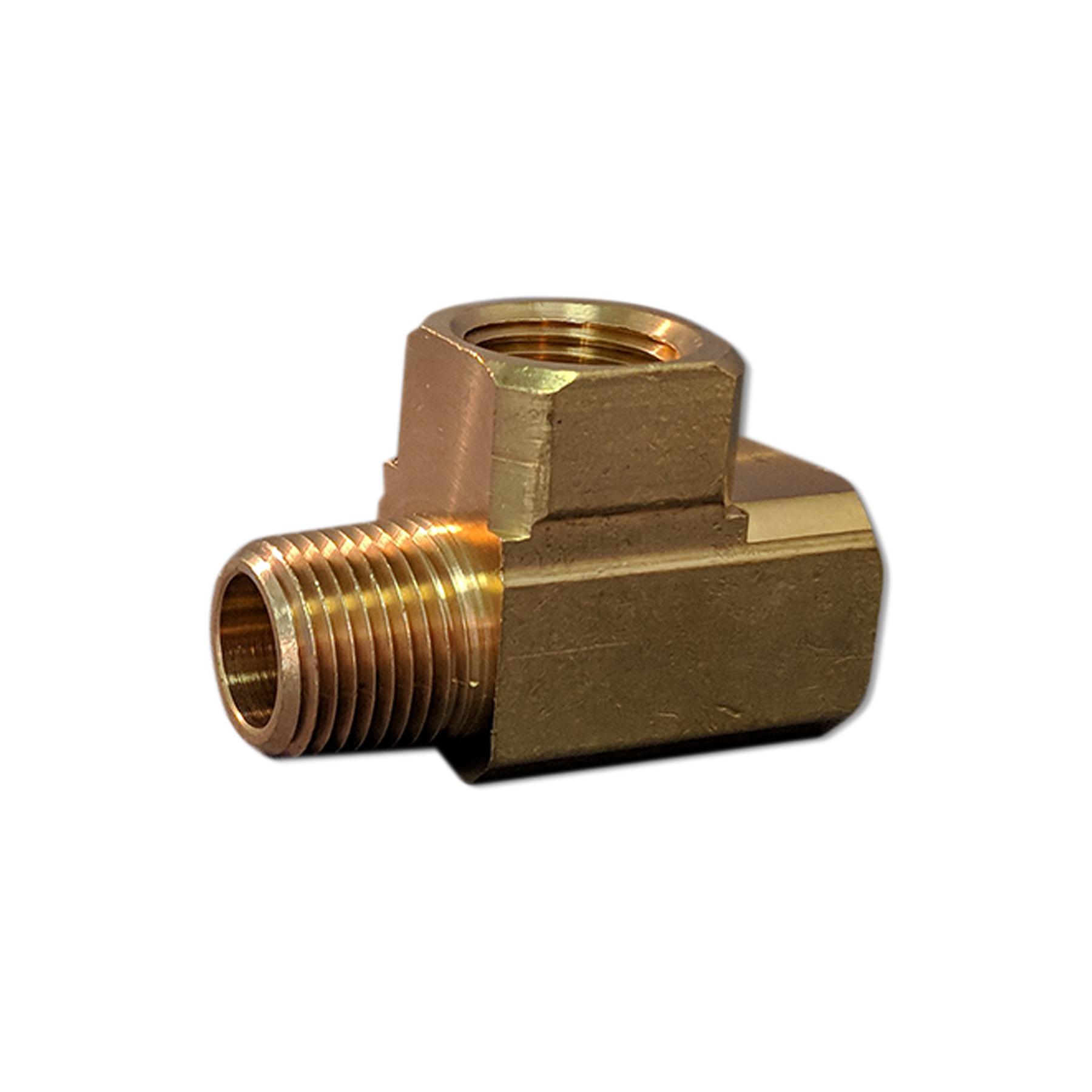 Brass Tee Fitting, 1/2 NPT (M) (F)
