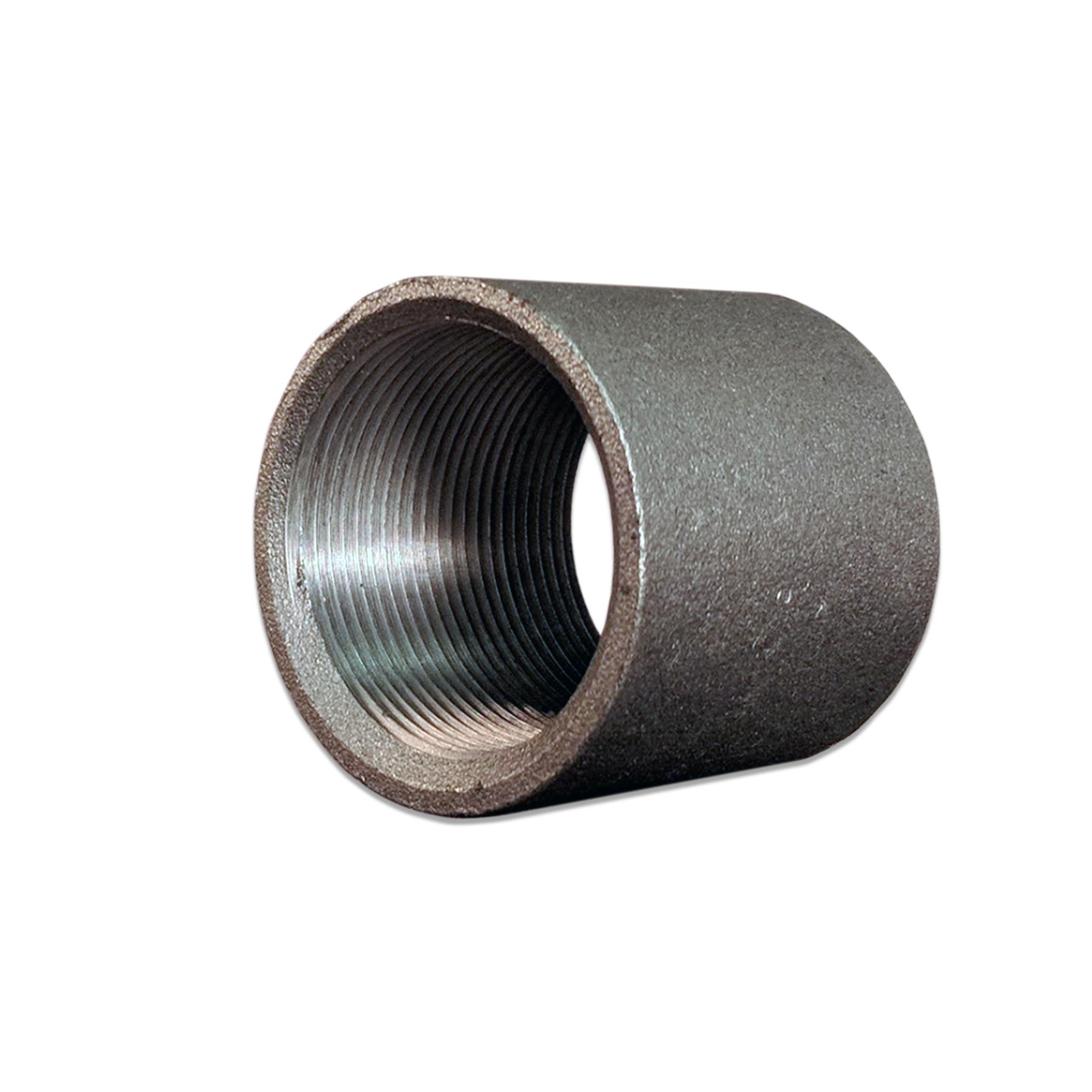 Steel Coupling Fitting, 1.5 NPS, 2 in. Long