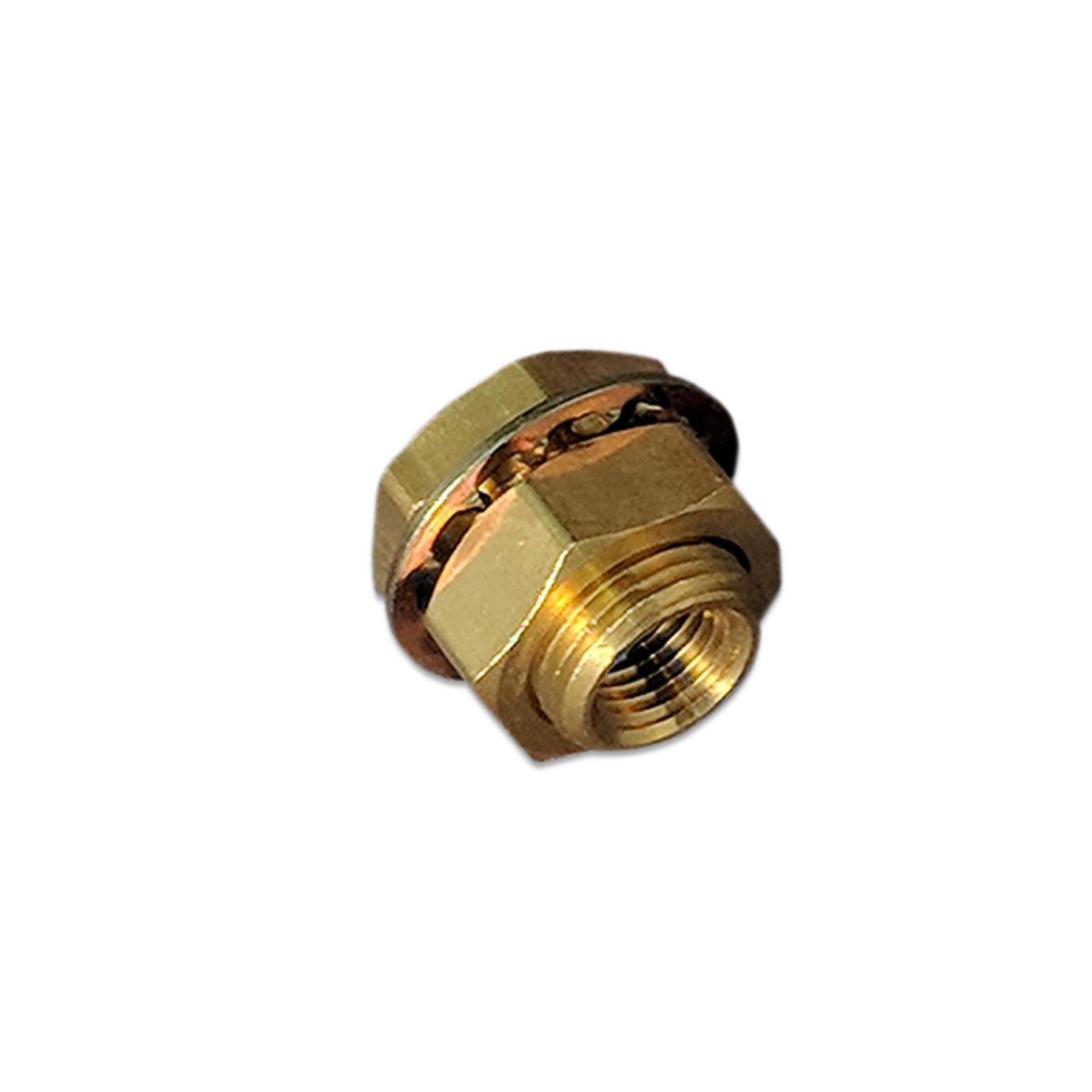 Brass Bulkhead Fitting, 1/4 x 1/4 in. (F) NPT