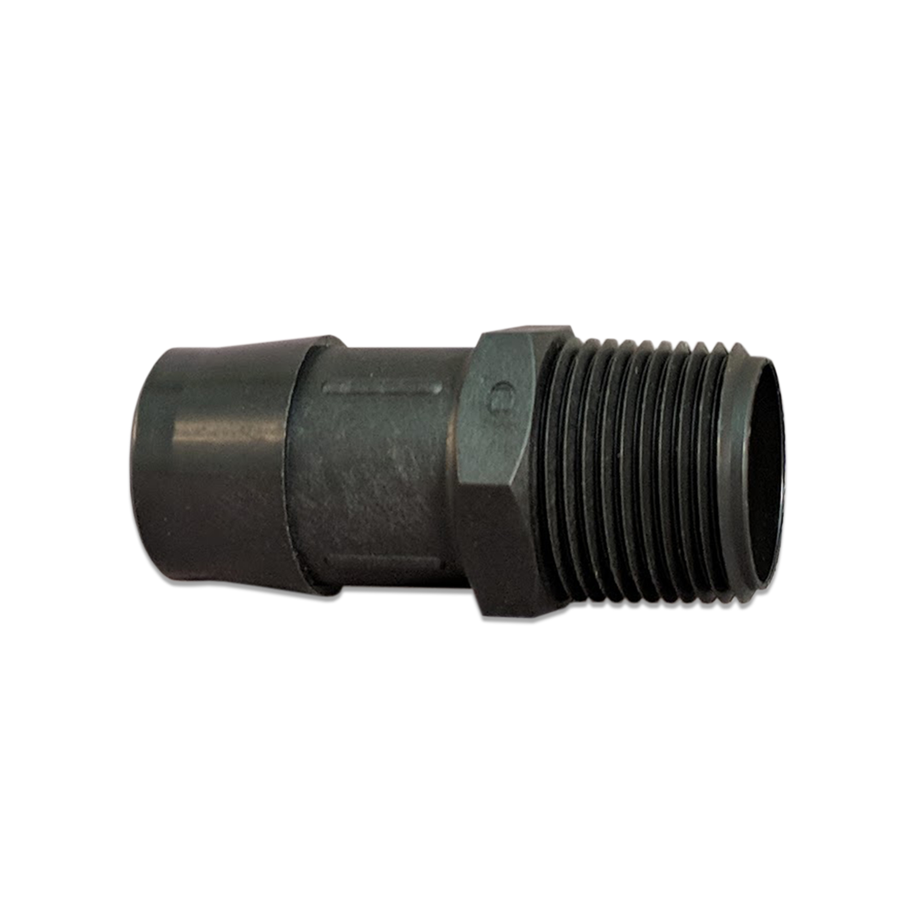Glass Filled Black Nylon Barb Fitting, 3/4 in. NPT x 1 in.