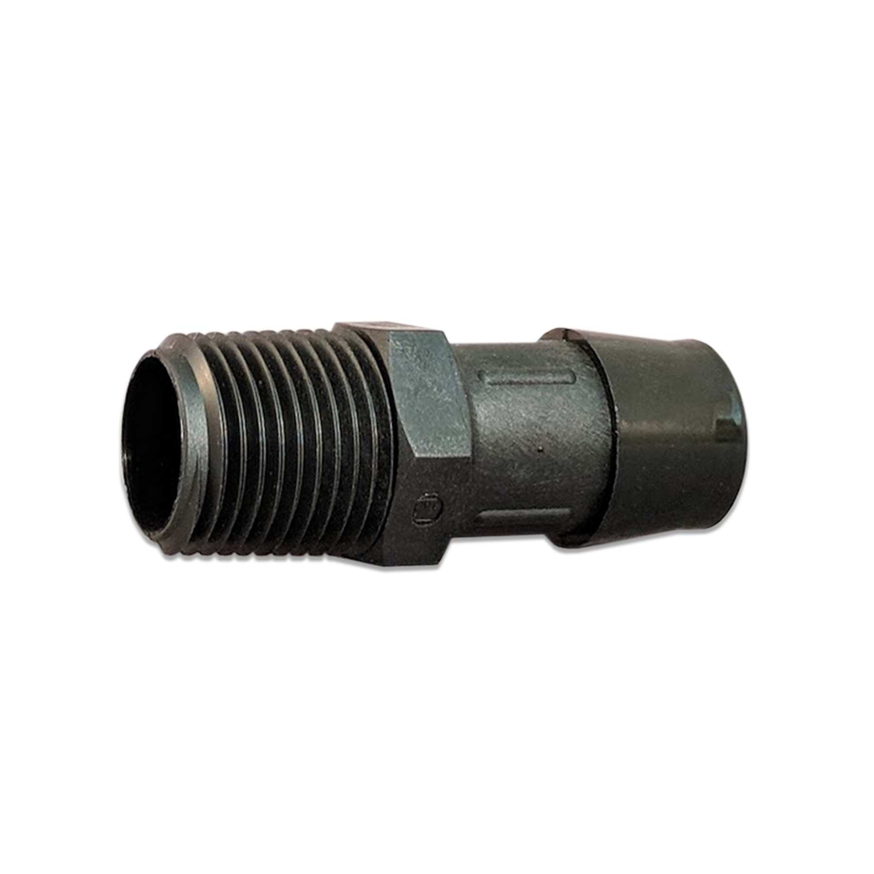 Glass Filled Black Nylon Barb Fitting, 1/2 in. NPT x 3/4 in.