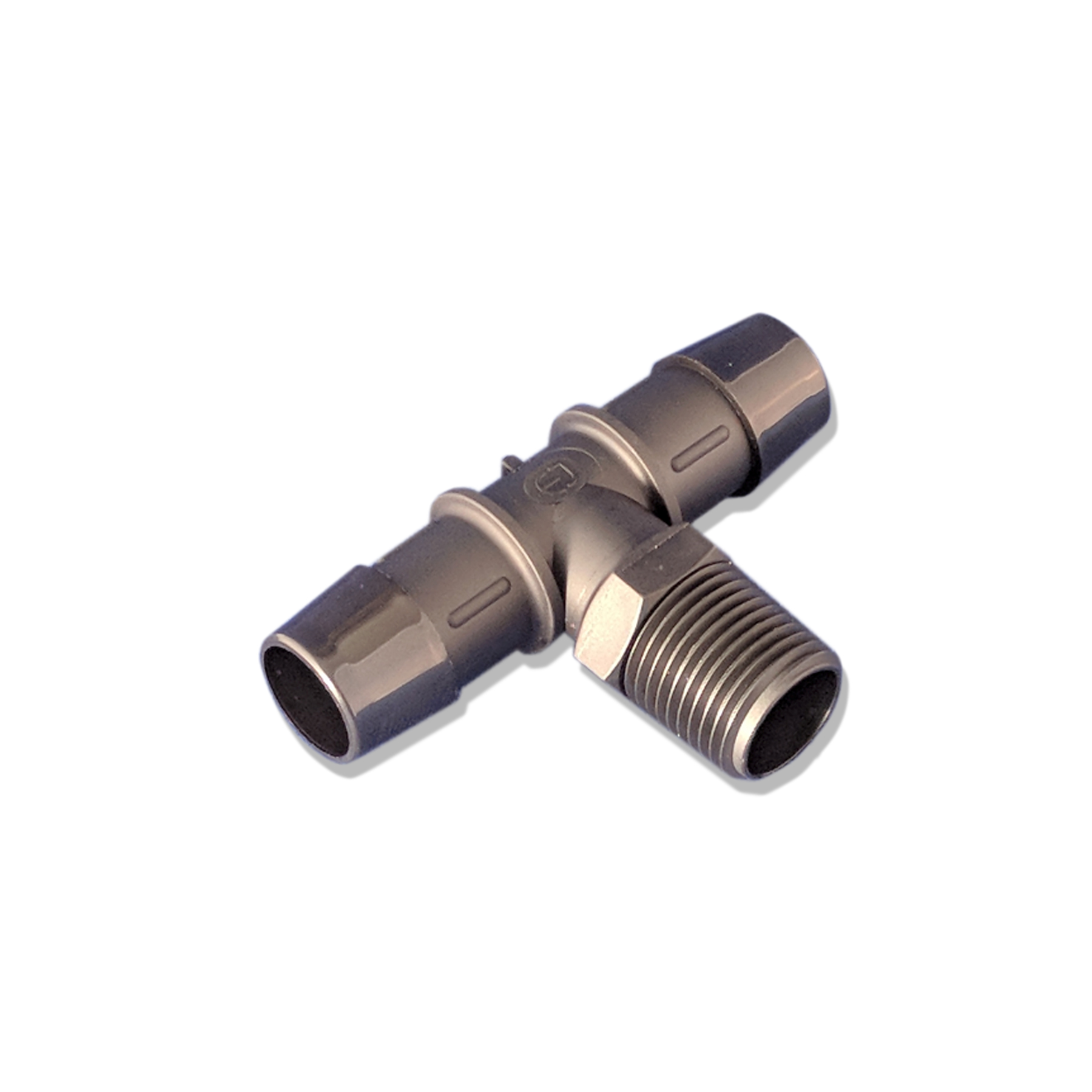 Barbed Nylon Tee Fitting, 1/2 in. (M) NPT to 3/4 in.