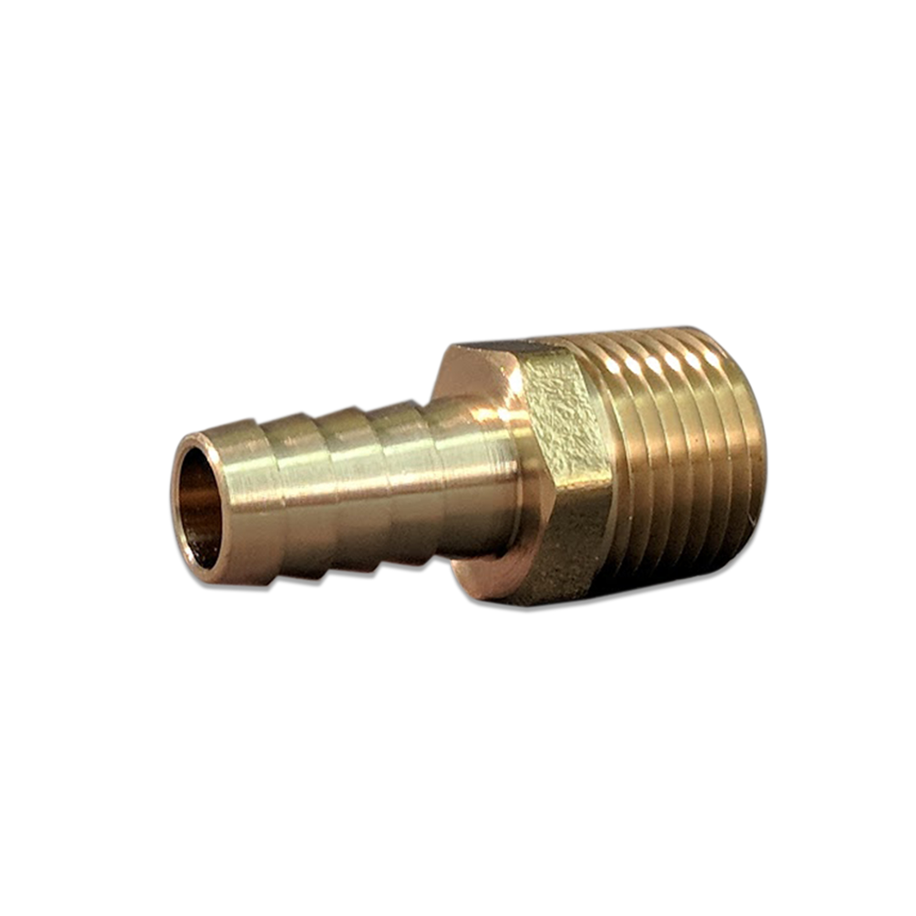 Brass Barb Fitting, 1/2 in. x 1/2 in. (M) NPT