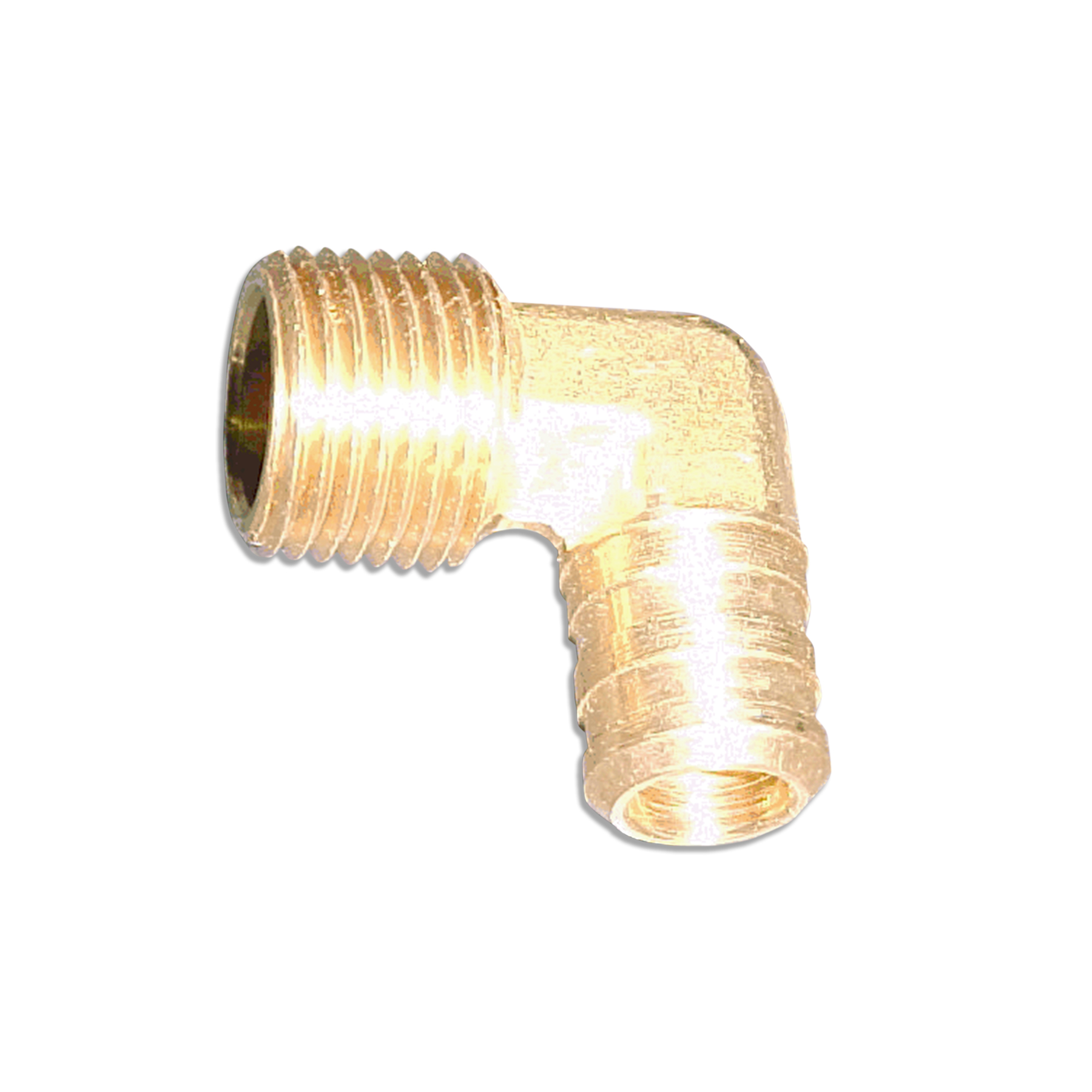 Brass Elbow Fitting, 1/2 NPT x 5/8