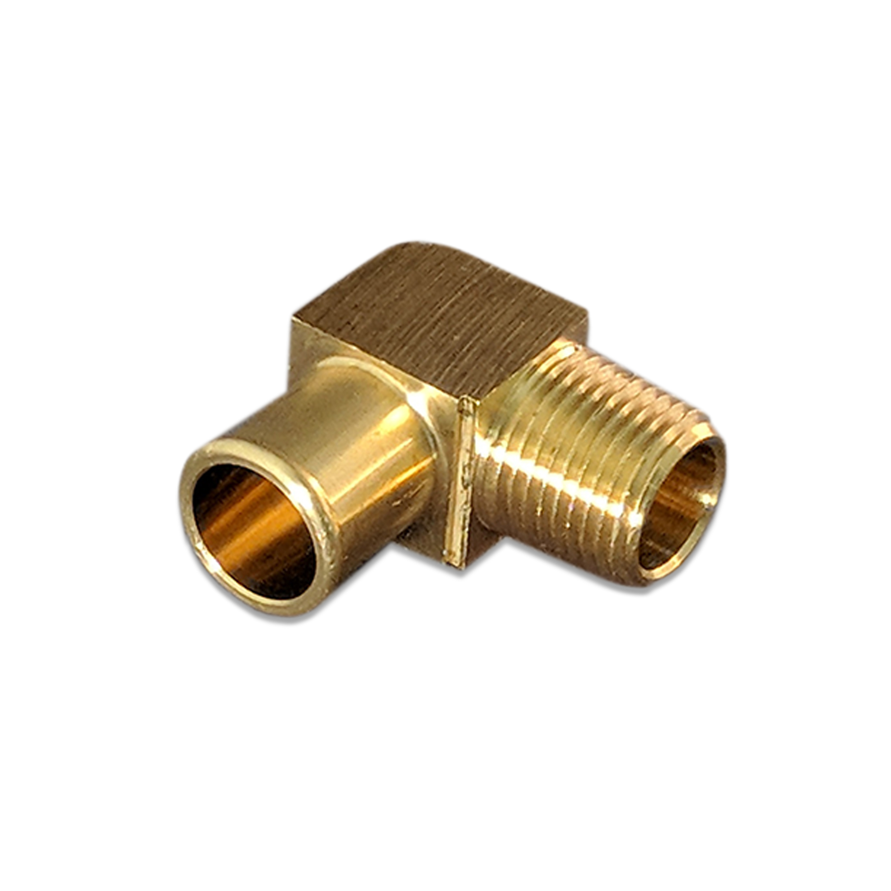 Brass Elbow Fitting 90 Degree,Barb, 3/4 X 1/2 (M)NP, HH