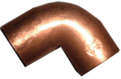 CONS Copper 90 Degree Elbow Sweat Fitting, 1/2 in x 1/2 in. (F)