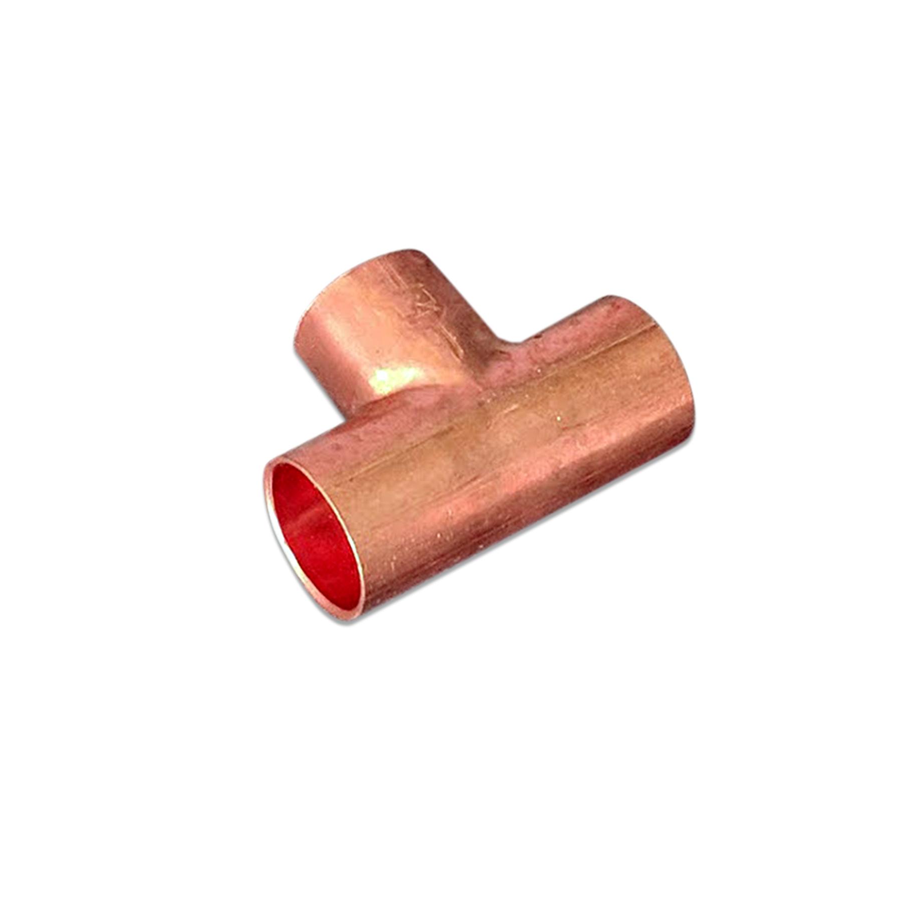 CONS Copper Tee Fitting, 1/2 x 1/2 x 1/2 (F) Sweat