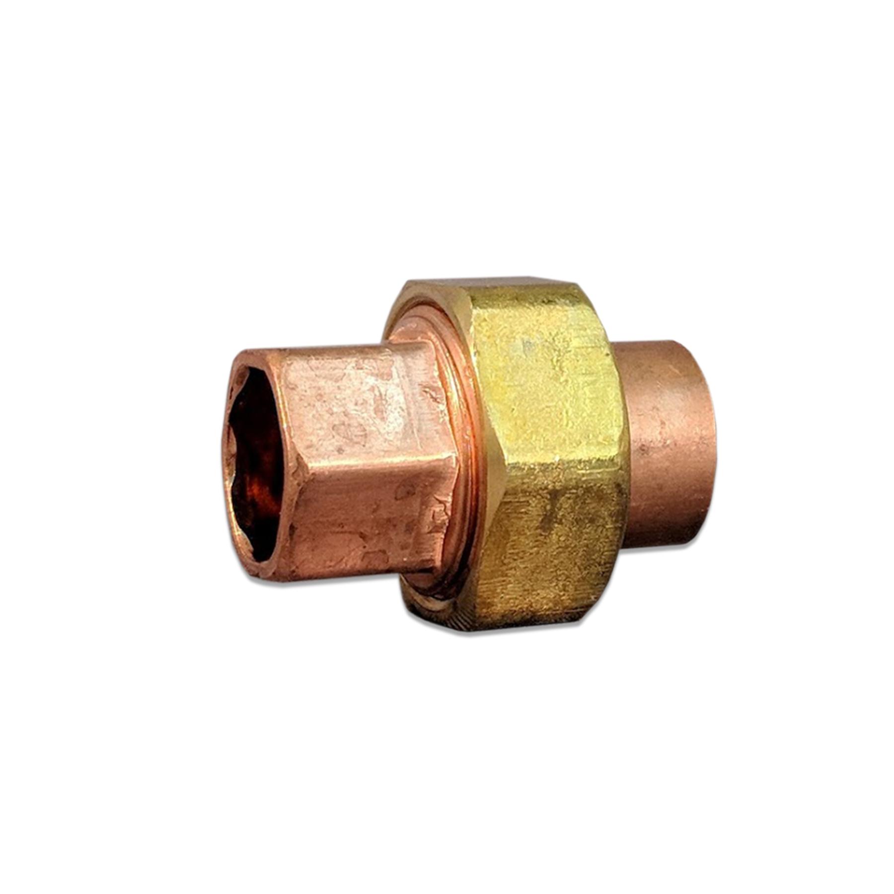 Copper Union Sweat Fitting, 1/2 x 1/2 (F)