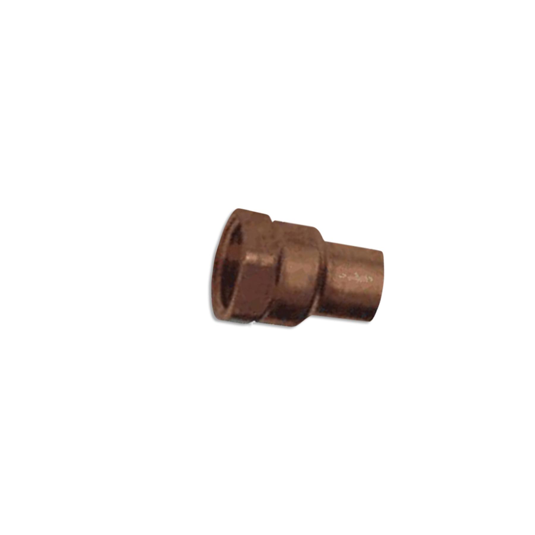 Copper Adapter Sweat Fitting, 1/2 (F) Sweat x 1/2 (F) NPT