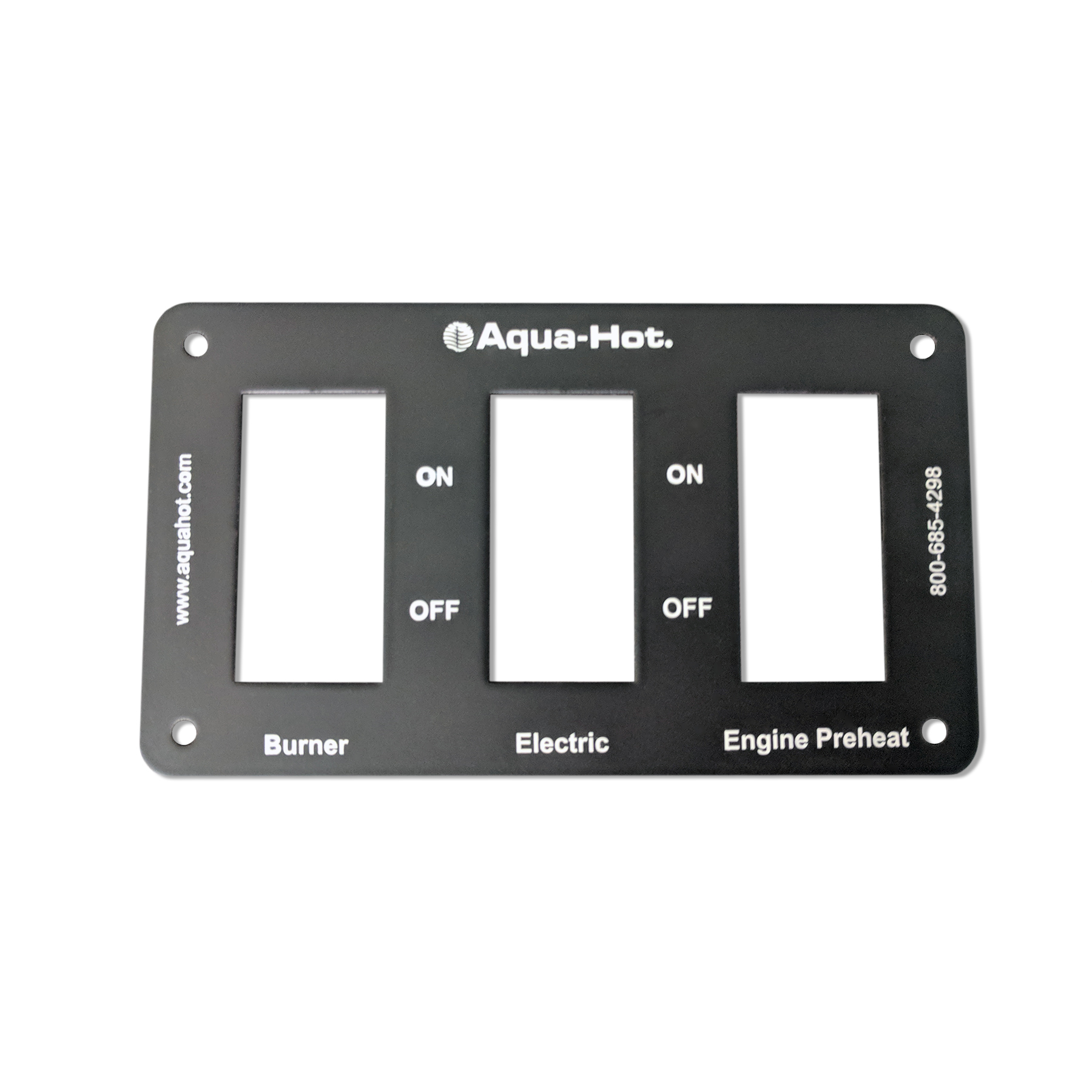 3-Position Switch Panel, 44 x 22 mm Cut-Outs